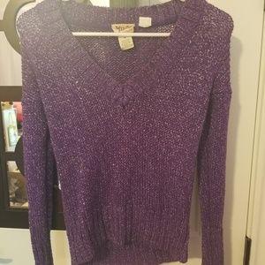 mudd purple sweater Medium
